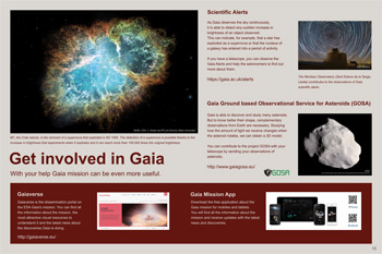 Get involved in Gaia poster