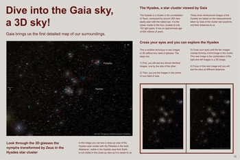 Dive into the Gaia sky poster