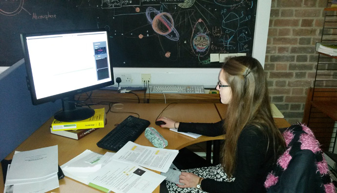 Student observing with the Faulkes Telescope