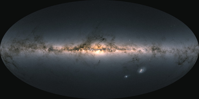 Gaia Early Data Release 3 sky map