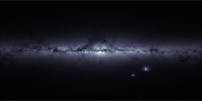 Stellar density map - Milky Way