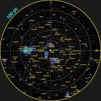 GCNS stellar density map