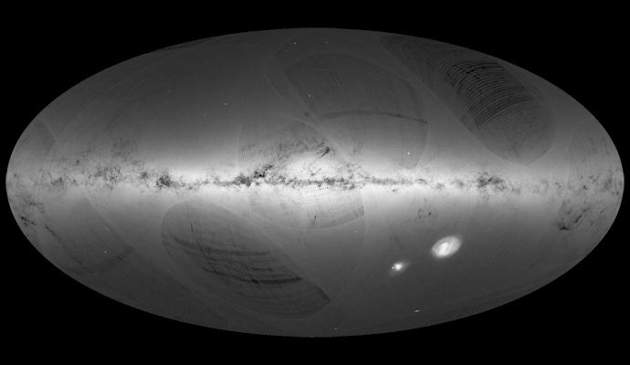 Gaia Data Release 1 sky map