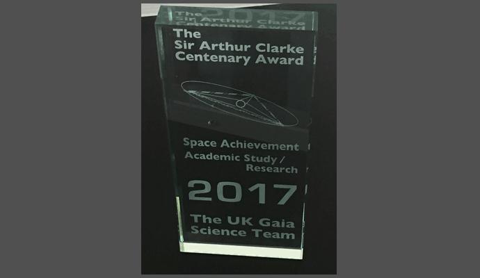 The Sir Arthur Clarke Centenary Award for the UK Gaia Science Team