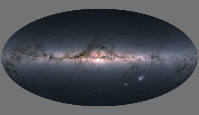 Gaia DR2 sky map.