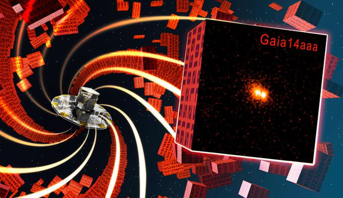 Artist's impression of Gaia Science Alerts